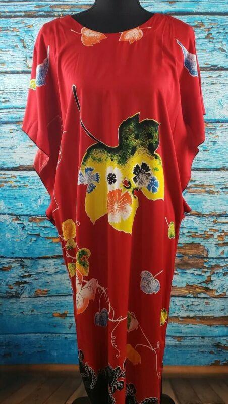 Elok Traditional Batic Dress Red Women