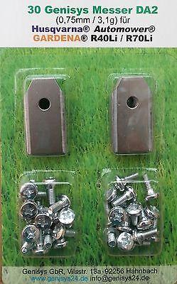 30 Rostfreie 0,75mm Messer Klingen HUSQVARNA® Automower 220 230 305 308 310
