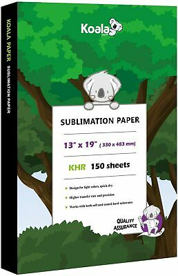 koala 150 sheets 13x19 dye sublimation heat