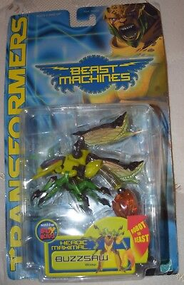 Hasbro Transformers Beast Machines Buzzsaw Action Figure New!