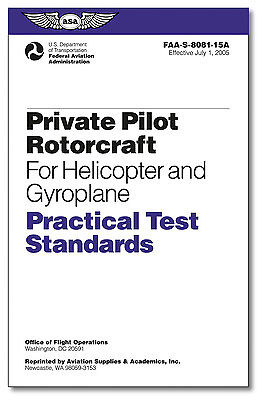 ASA Practical Test Standards PTS Private Pilot Rotorcraft Helicopter - 8081-15A ()