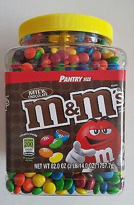 M Ms 62 Oz Jar Milk Chocolate Candy Pantry Size  M   M  Mars