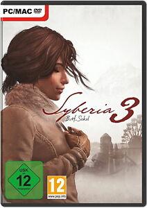 Syberia 1 bis 3; PC; Steam-Code; Windows 7/8/10, NEU,