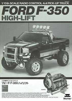 Used, Tamiya Ford F-350 High Lift Instructions Book 1/10 Scale RC 4X4 Truck 2006 for sale  Fullerton