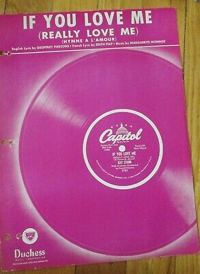 If You Love Me (Really Love Me) (Hymne a L'Amour) Sheet Music