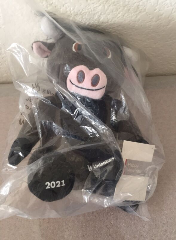 New Union Bank Plush Ox 2021 Chinese Zodiac Year Of The Ox Current 2021