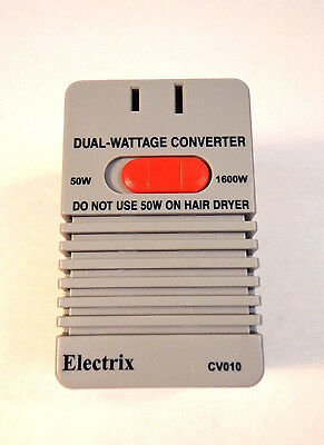 50 / 1600 Watts Deluxe Voltage Converter Electricity Power Charges 220 v to 110