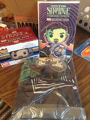 marvel collector corps dr strange comic, mug, patch and shirt
