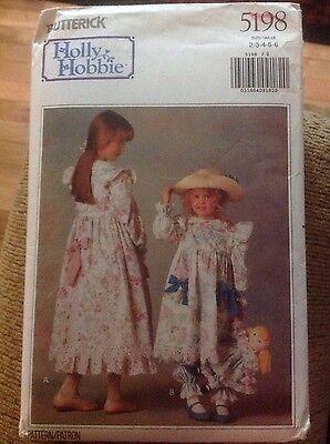 1990 Butterick Holly Hobbie pattern 5198 uncut Girls Dress Up Costume Halloween - Holly Hobbie Halloween Costume