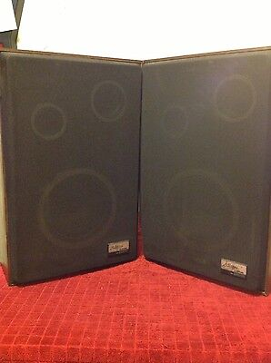 Vintage Zenith Allegro 2000 Floor Speakers 8  Woofer Horn Tweeters Tested   Big