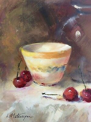 """Original Impressionism Daily Oil Painting 6""""x8"""" Still  Life Artist Signed"""