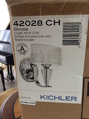 Kichler 42028CH Crystal Persuasion Wall Sconce In Chrome