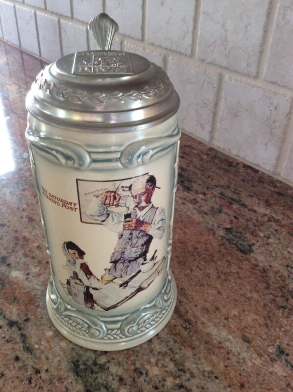 Normal Rockwell Beer Stein Saturday Evening Post Series