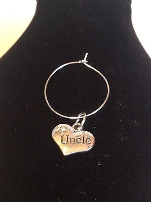 uncle wine glass charm