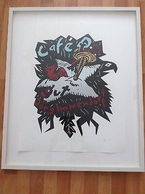 Café D. gut Kunstdruck von Jörg Immendorff