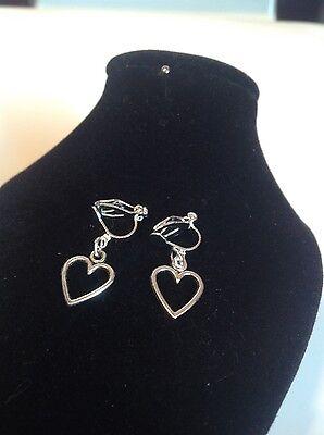 Open Heart clip on earrings
