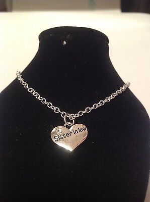 sister in law ankle braclet silver plated (Sister Braclets)
