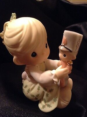 MAY YOUR CHRISTMAS BEGIN WITH A BANG Precious Moments #877433 Christmas Figurine