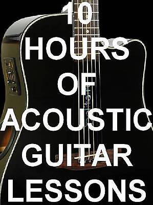 10 Hours of Acoustic Guitar Lesson Videos on 1 Disc! on Rummage