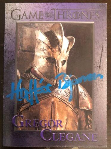 Game of Thrones HAFPOR BJORNSSON SIGNED Card