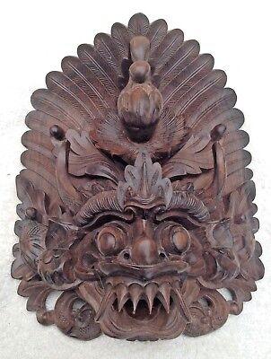 Indonesian Garuda wood carving.