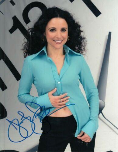 """JULIA LOUIS-DREYFUS signed (SEINFELD) 8X10 photo """"Elaine Benes"""" auto W/COA #5"""