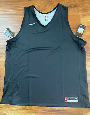 Nike NBA Player Issue Reversible Practice Jersey Black 2XL 933573-010 NEW