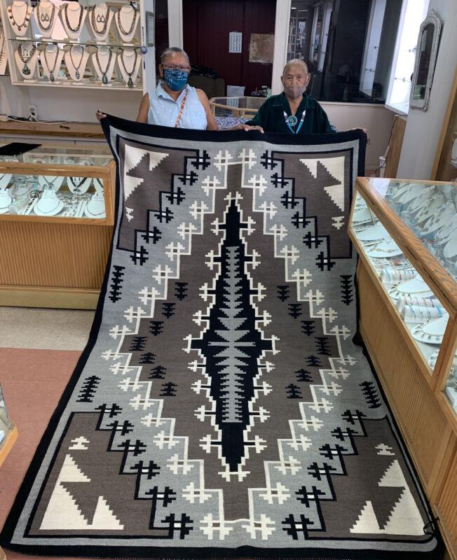 Native American Handmade Navajo Rugs Two Grey Hills Design
