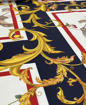 2mx1.4m authentic Versace designer fabric cotton with elastan baroque flowers
