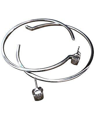MIchael Kors Silver Hoop Earrings BNWT. Can Be Worn In 2 Ways