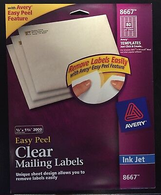 Avery Clear Easy Peel Return Address Labels 12 X 1-34 Pack Of 2000 8667