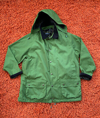 NWOT Barbour Beaufort Jacket XL Hood Green Waterproof