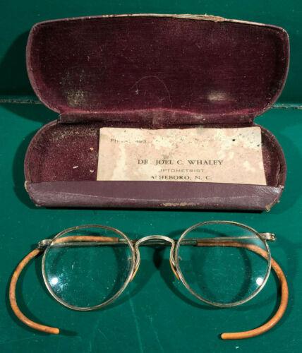 Antique 1/10 12K Gold Filled Round Bi-Focal Eyeglasses Glasses (RFM62-1)