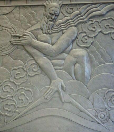 08:46 G.F. Zeus with Iconic Lightening Bolt - Art Deco Machine Age Canvas Print
