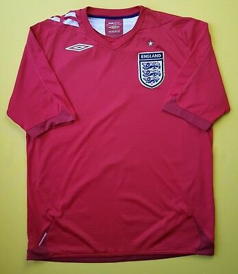 2b5a4f96b England soccer jersey large 2006 2008 away shirt football Umbro 4.5 5