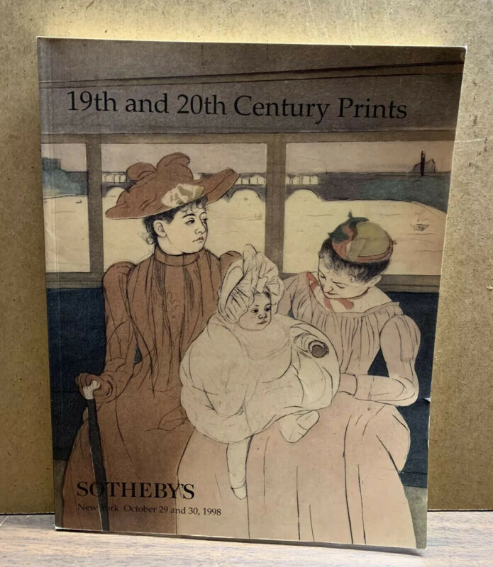 1998 October 29-30 SOTHEBY'S New York Auction Book 19th/20th Century Prints (X1)