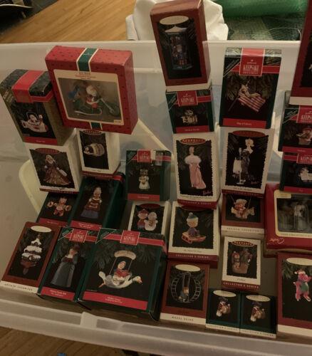 LOT OF 26 HALLMARK KEEPSAKE ORNAMENTS Santa, Snoopy, Merry Minis, More -1990 s - $14.99