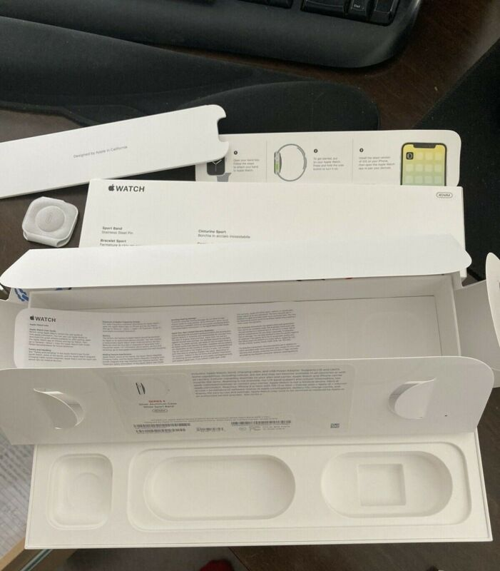 Apple Watch Series 4 40MM Silver Aluminum Case EMPTY BOX ONLY