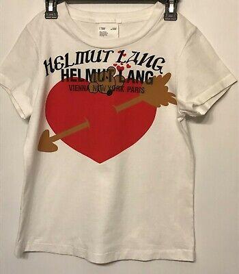 Helmut Lang Valentine Graphic T-Shirt Unisex XS (Women) SM (Men) VGC