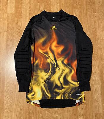 Adidas Climacool Flames Fire Long Sleeve Soccer Jersey Padded Size Men's Medium Fire Long Sleeve Jersey