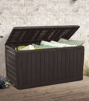 NEW Keter Outdoor Patio Garden Outdoor Storage with two seats.