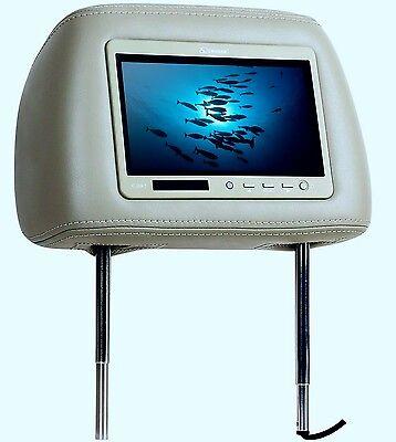 """Auto Kopfstütze TV Monitor Cougar CHR7 TFT LCD 7""""18cm FB 12V Beige (TAN) L1"""