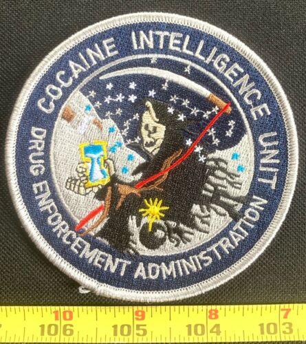DEA Cocaine Intelligence Unit Police Shoulder Jacket Patch Iron On