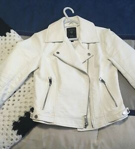 White Leather Guess Jacket