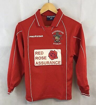 Accrington Stanley L/S Home Football Shirt 2002/03 Adults XXS Pro Star image