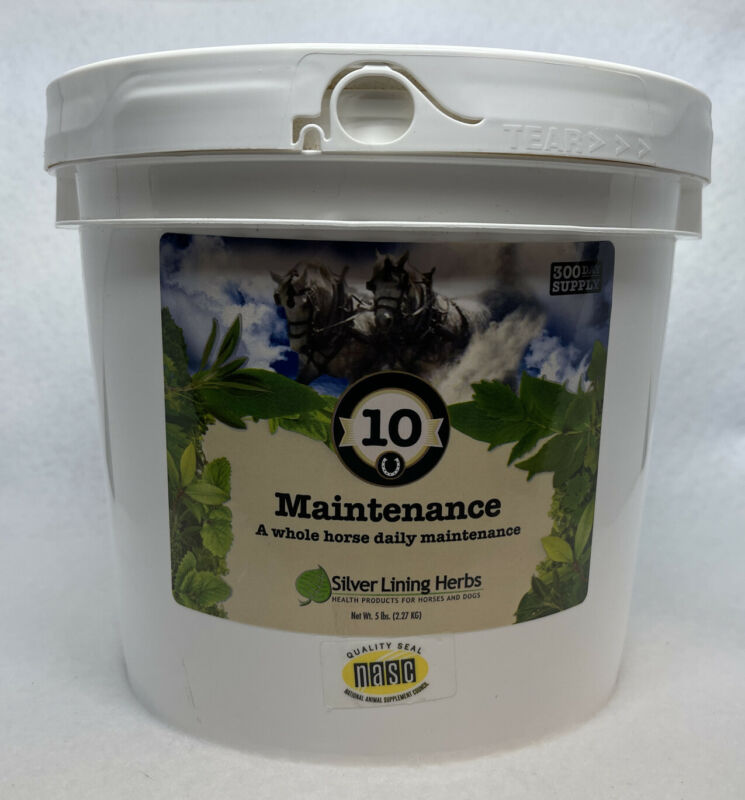 SILVER LINING HERBS #10 Maintenance Healthy Horse Equine 5lb. 300 Day Supply