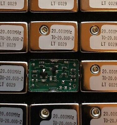 To-20.000-2 20.000 Mhz Tcxo Mounted Quartz Resonators New Qty.5