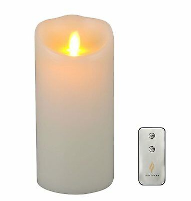 Vanilla Wax - Luminara Flameless Wax Candle LED Vanilla Scented Ivory Candles 3.5