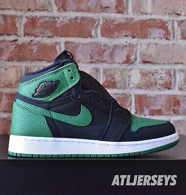 Nike Air Jordan 1 Retro High OG GS Pine Green Black 575441-030 Size 3.5Y-7Y