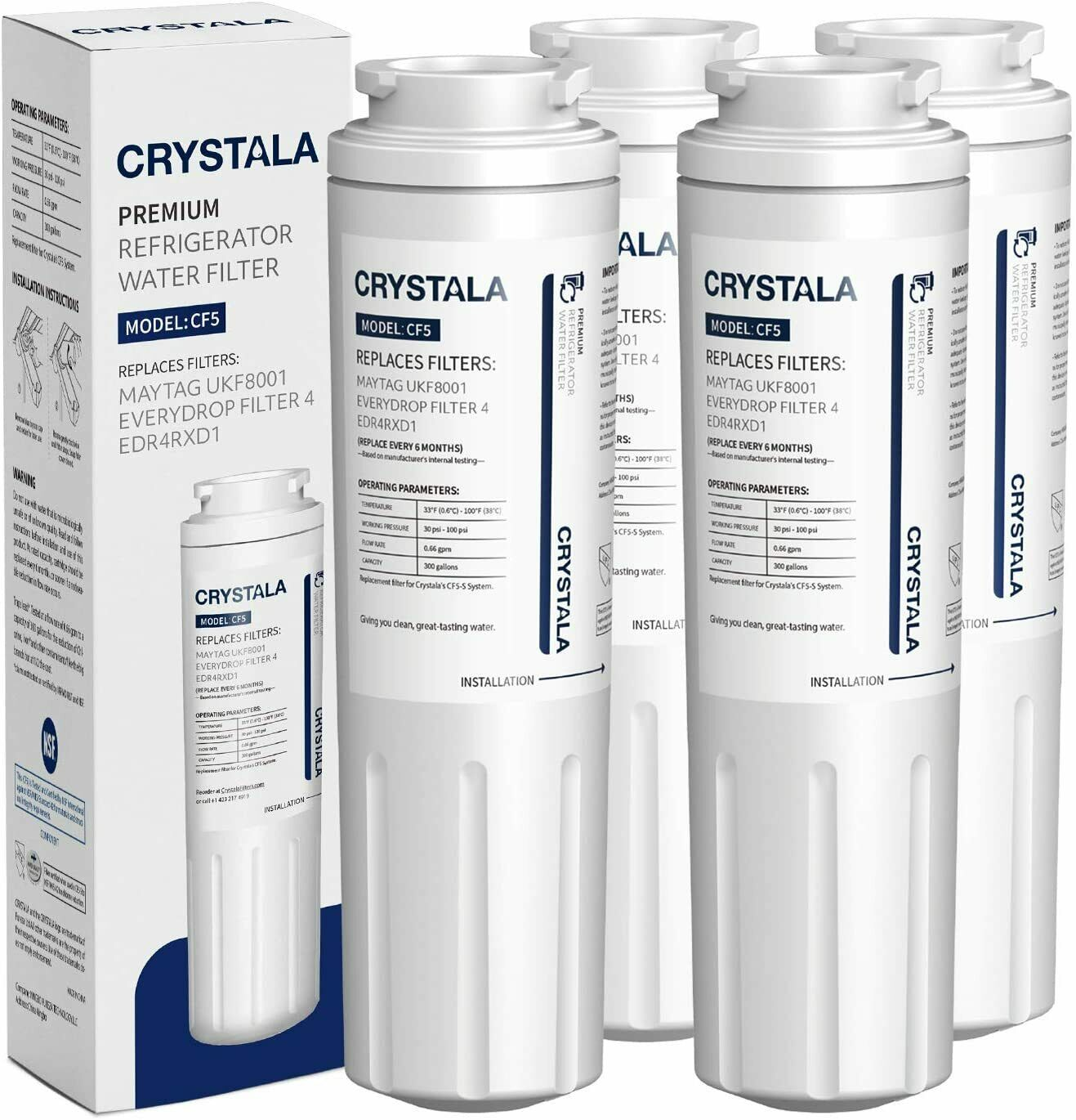 Refrigerator water filter replacement for AMANA UKF8001AXX-2